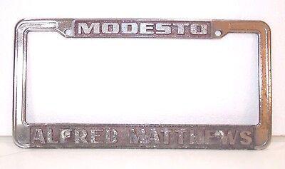 alfred matthews license plate frame modesto ca auto dealer buick gm cadillac ebay ebay
