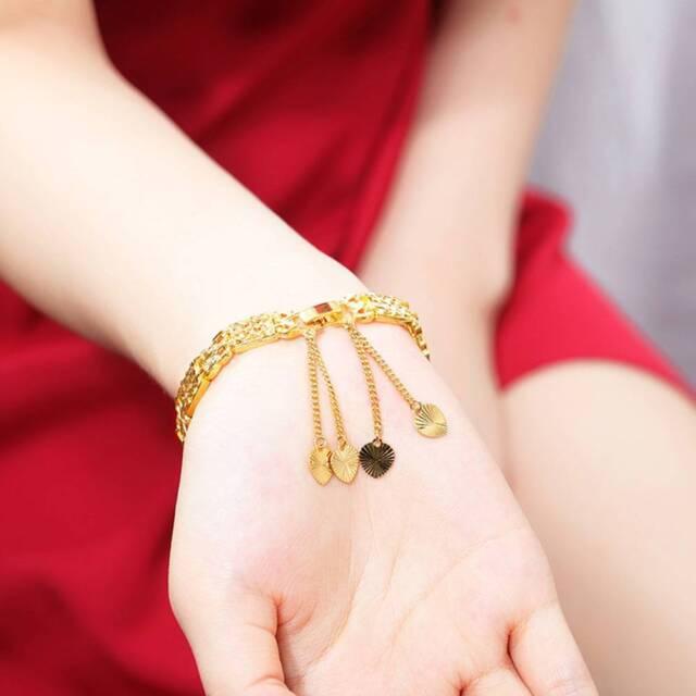 Fashion Vintage Pattern Luxury Design 18K Gold for Men Women Chain Bracelet v