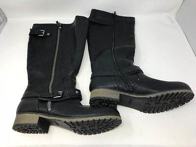 Bongo Women/'s Dixie Knee High Boots Black Med//Wide #20394 20U1,2,3,4,5 NEW