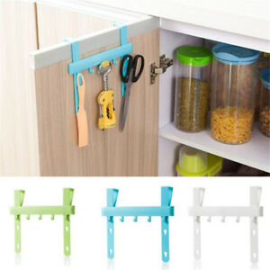 Door Rack Hooks Hanging Kitchen Cabinets Storage Holders Home Small