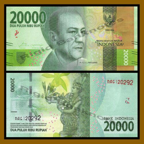 Indonesia 1000 2000 5000 10000 20000 50000 100000 Rupiah 7 Pcs Set 2016 Unc