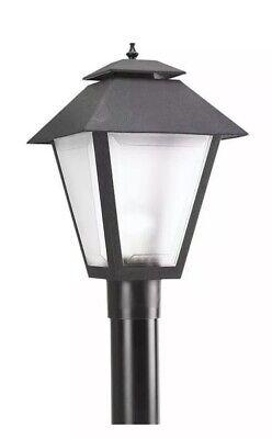 Black Post Light Outdoor Lighting Fixture Lantern Fits 3 Pole Top 18 X 13 New Ebay