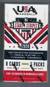 2020 年帕尼尼星星和條紋棒球密封愛好盒