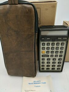 Vintage-HP-41CV-Scientific-Programmable-Calculator-with-Manual-and-Case-Tested