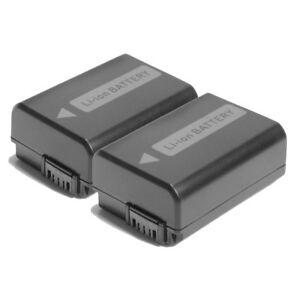 2Packs NP-FW50 Battery 1500mAh For Sony NEX-3 NEX-5 NEX-6 Alpha 7R A35 A55 A6000 6901548105698
