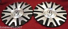 Gazario Wheels Chrome/Flat Black Custom Wheel Center Caps Set of 2