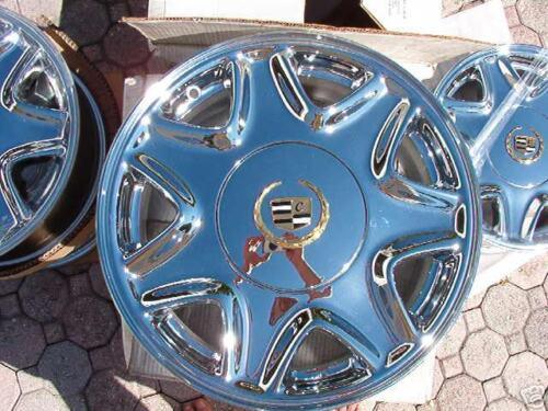 OEM Cadillac Deville Eldorado SLS DTS DHS Wheels 4 NEW Chrome Gold CENTER CAPS