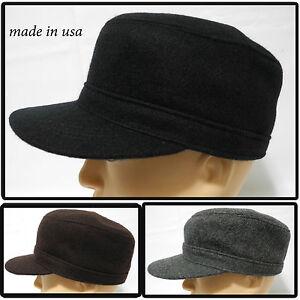 Made in USA 100% melton wool army cadet military navy baseball cap ... 8cb5fafbd063