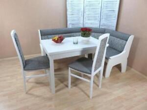 Esstisch Graphit Weiß Massiv Moderne 2x Ausziehbar Details Stühle Truheneckbankgruppe Zu mN8wn0v