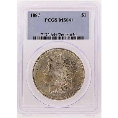 1887 PCGS MS64+ Morgan Silver Dollar Lot 6