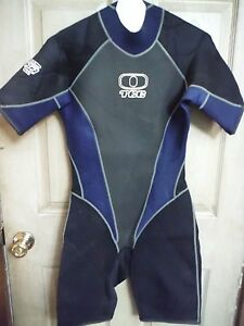 Women's Titanium 202 Ocean TEC Wet Suit Size 10, Gray, Blue Black