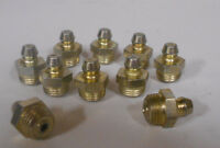 Lot Of 10 1/8-27 Pipe Special Thread Straight Grease Zert Nipple Fittings