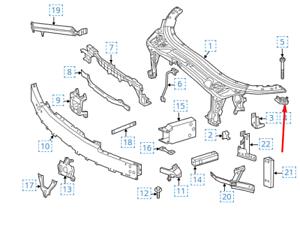MB-C-Clase-W205-Radiador-Superior-Detras-Derecho-Soporte-A2056260312-Nuevo-Genuino-2016