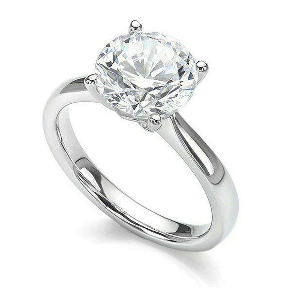 18ct White gold Certified Diamond Solitaire Engagement Ring 0.50ct