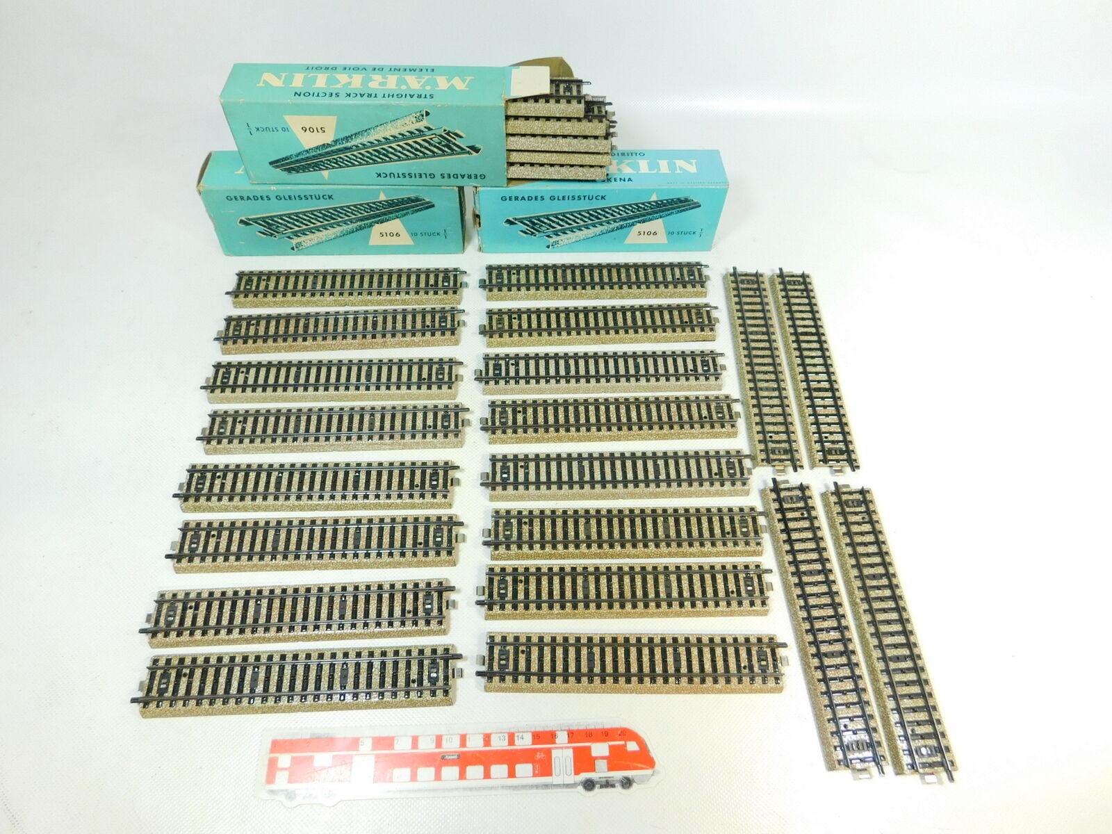 Bu116-2  30x 30x 30x Märklin h0 ac 5106 pezzo di binario ferrovia appena M-Binario molto bene; OVP 74e3f0