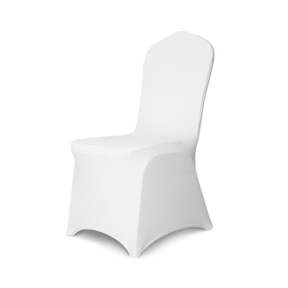 neu Stuhlhussen Stretch weiss Stuhlbezug unten ohne Bogen oder Schleife ab 1Stk