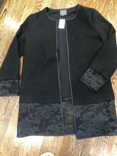 M Medium Collection Open Jacket Lace Nwt Limited Kvinders The Trim Black xOnCzwf