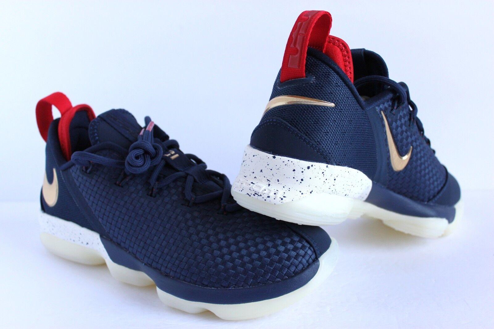 Nike Lebron 14 XIV Low USA Midnight Navy-Metallic oro oro oro sz 11 [878636-400] 98fa48