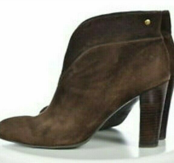 Franco Sarto Womens Slip on Brown Suede Ankle Booties Boots Size 8 EUC