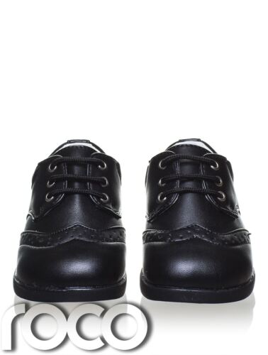 Flexible Sole Boys Black Formal Shoes Baby Boys Matt Black Shoes Infant 1-8