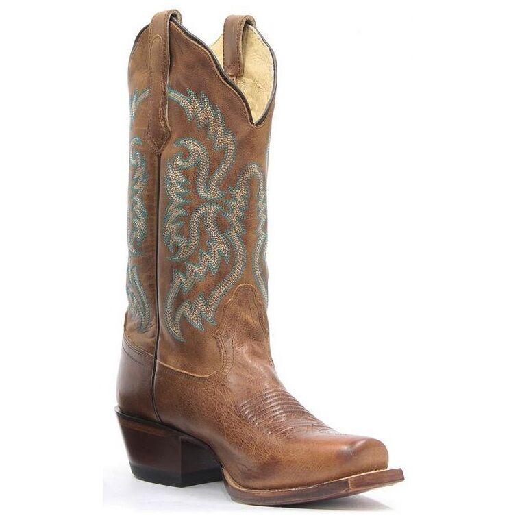 qualità autentica Nocona Ladies Fashion Old West Tan Leather Leather Leather Cowgirl stivali NL5009  alta qualità