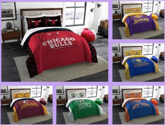 NBA Licensed 3 Piece Full Queen Comforter & Sham Bed Set In A Bag - Choose  Team