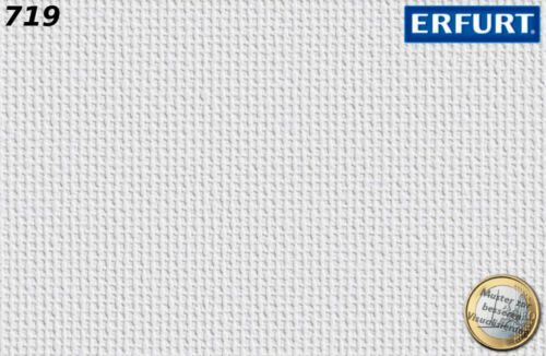 Erfurt Vliesfaser 719 Strukturtapete 25x0,75m Kleister 18,75m² Vliestapete