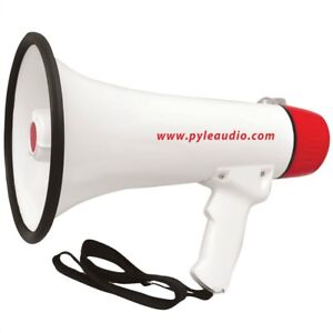 Megaphone-Professionel-Pyle-PMP48IR-Rouge-de-40-Watt-Jack-3-5-mm-Batterie