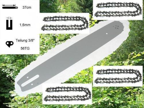 37cm Schwert Schiene 4 Ketten passend f Stihl 046 MS460