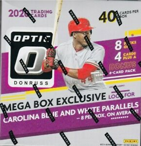 2020-PANINI-OPTIC-BASEBALL-FACTORY-SEALED-MEGA-BOX-8-PACKS-BONUS-1-AUTO-PER