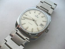JUST GREAT~VTG ELGIN SWISS MADE AUTOMATIC MENS DRESS WRISTWATCH~SUPER BAND~1970s
