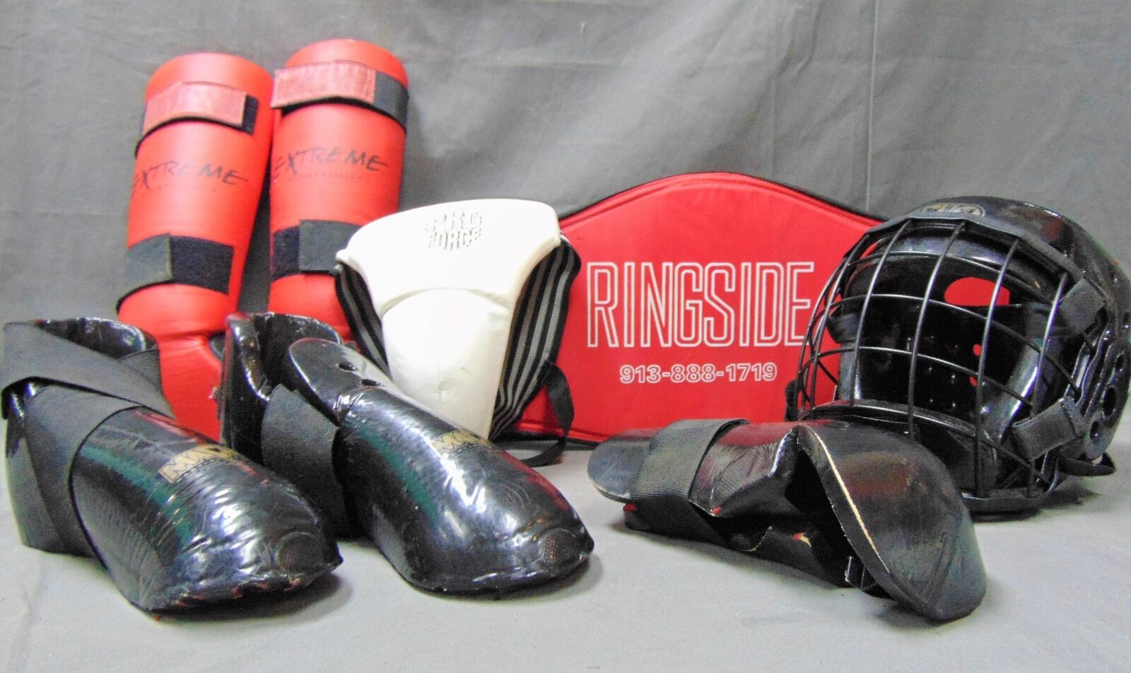 ADULT SIZE MARTIAL ARTS PredECTIVE GEAR SET WITH BAG-MACHO, RINGSIDE, PRO FORCE