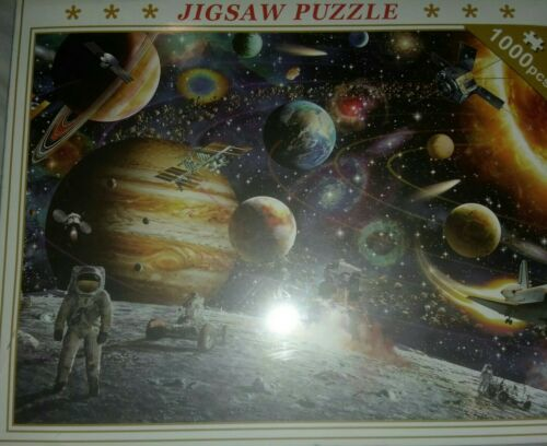 Space Puzzle 1000 Piece Jigsaw Puzzles Kids Adult Planets in Space Jigsaw Puzzle