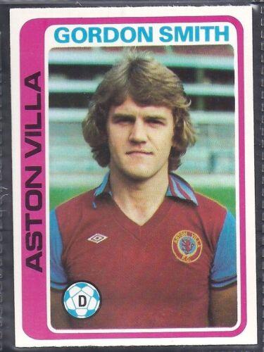 TOPPS-FOOTBALL -#168- ASTON VILLA GORDON SMITH PALE BLUE BACK 1979
