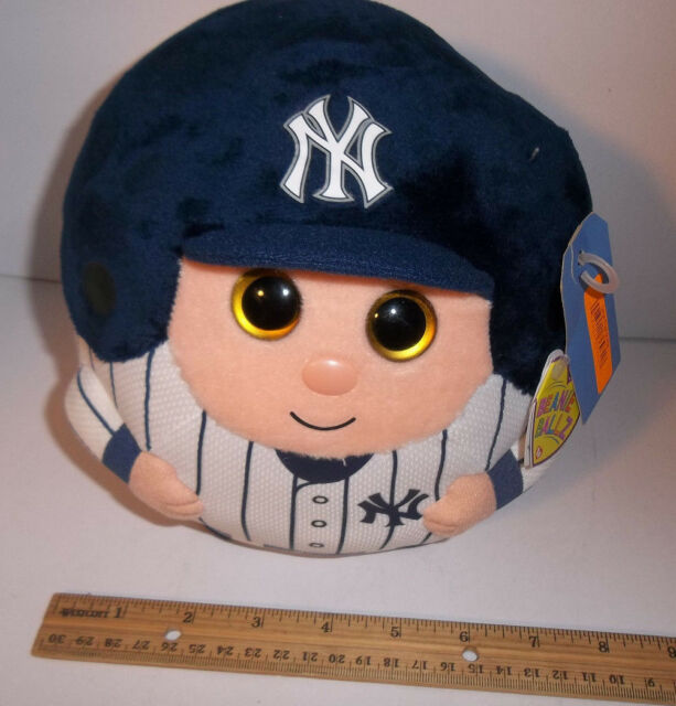 bd08296967c Brand New York Yankees M 8 in TY Beanie Baby Ballz Ball plush MLB Baseball  Jeter