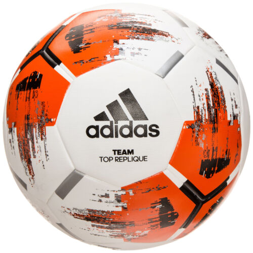 orange NEU adidas Performance Team TopReplique Trainingsball weiß