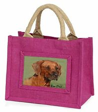 Rhodesian Ridgeback 'Love You Dad' Little Girls Small Pink Shopping B, DAD-92BMP