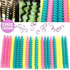 22Pcs Large Styling Plastic Barber Hairdressing Spiral Hair Perm Rod JZUS