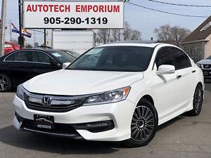 2017 Honda Accord Prl White SPORT Navigation/Sunroof/Leather