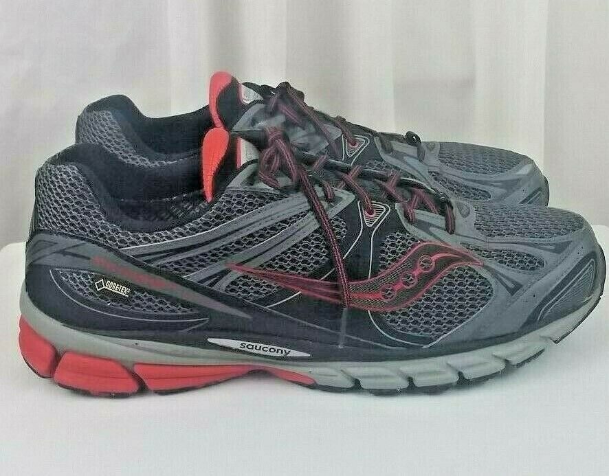 Saucony Guide 6 Gore-tex grey red running mens shoes SZ 12.5