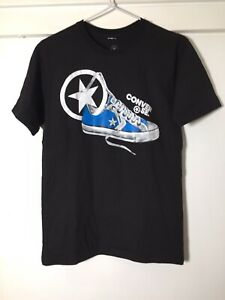 Converse-Mens-Black-Graphic-Print-T-Shirt-Size-XS-Good-Condition