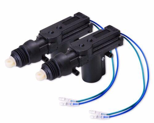 Zone Tech 2x Universal High Power Door Lock-Unlock Actuator 12-Volt Motor Kit