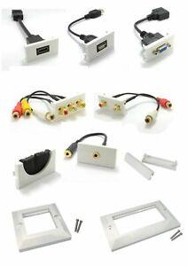 Placa-Frontal-modular-multi-media-tapa-de-STUB-HDMI-svga-Jack-RJ45-RCA-DisplayPort