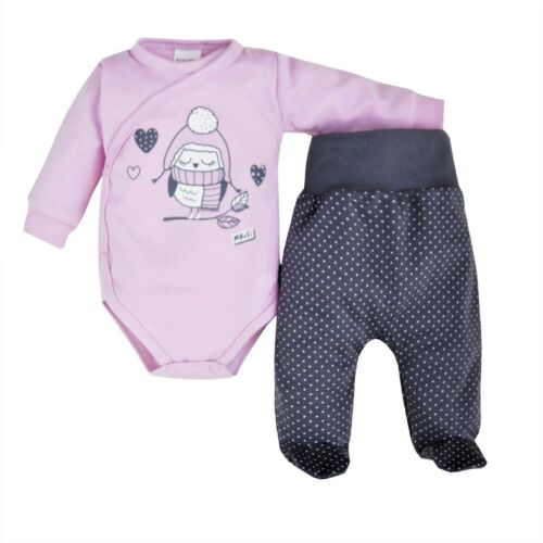 Baby Infant Girls Set Outfit Bodysuit Trousers 100/% Cotton NB//0-3//3-6//6-9 Months
