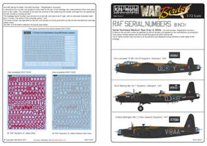 Kits-World-1-72-RAF-Serial-Numbers-8-inch-Medium-Sea-Grey-and-Wh