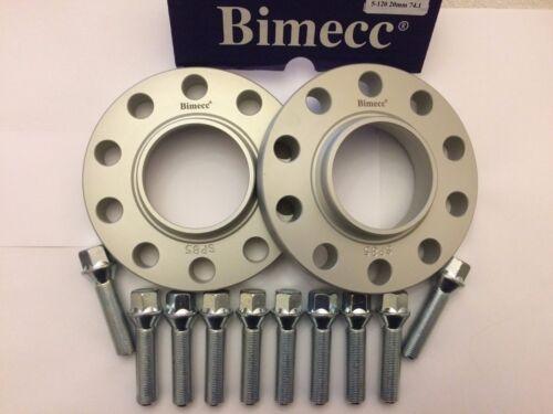 12mm BIMECC SILVER Hub Centric Distanziatori 10 x 40mm BULLONI FIT VW 5X100 M14X1.5 57