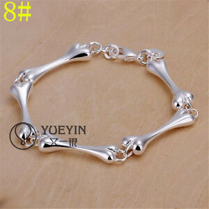 New-Fashion-Charm-Beautiful-Jewellery-Solid-Women-039-s-Bracelet-925-Sterling-Silver