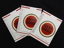 3pc. Rare Lucky Strike Empty Cigarette Pack Sleeve Held 5 smokes sample?