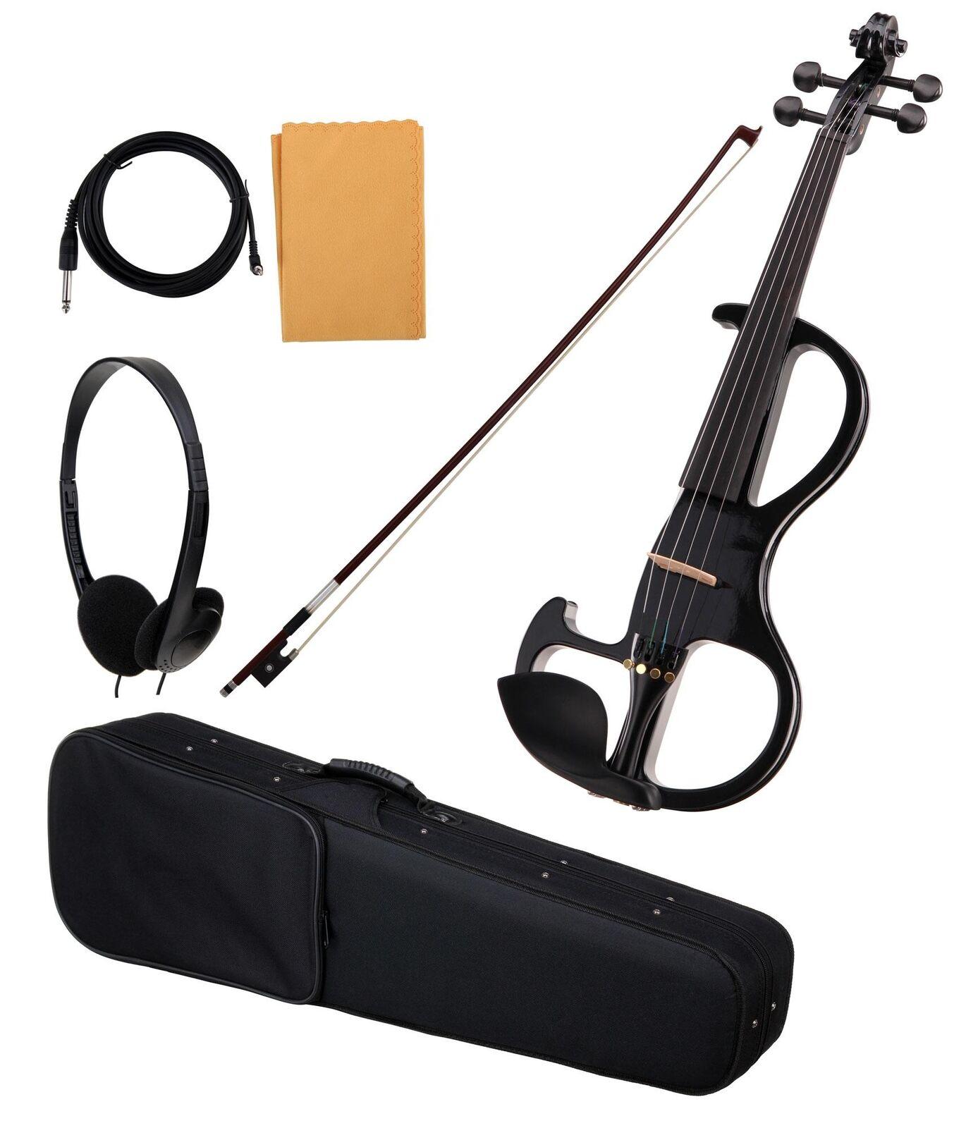 bellissima 4 4 E-Violino E-Violino TESTINA Cavo VALIGIA BORSA Arco Arco Arco Cuffie Nero  negozi al dettaglio