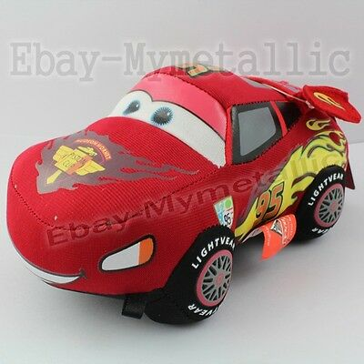 "Disney Cars Lightning McQueen 18cm/7.2"" Soft Plush Stuffed Doll Toy Suction Cup"